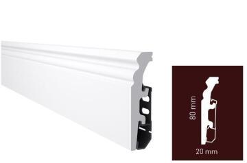 Skirting PVC P0830 White-20x80x2400mm