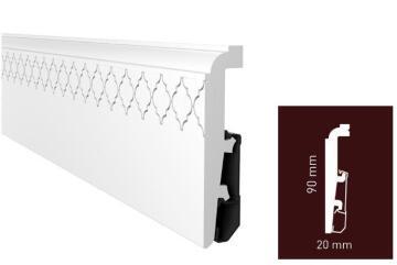 Skirting PVC P0911 White-20x90x2400mm