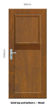 Service Door PVC with Frame (prehung) Solid Top&Bottom Stable Wood Left Hand Opening-w890xh2090mm