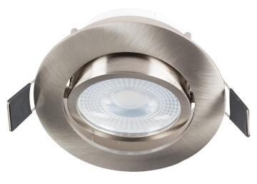 DOWNLIGHT SATIN/CHR&BULB WW TILT LED
