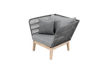 Fsc Acacia & Woven Rope Armchair