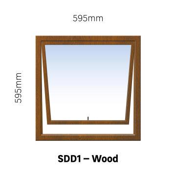 Window Hardwood SDD1 Full Pane-w595xh595mm