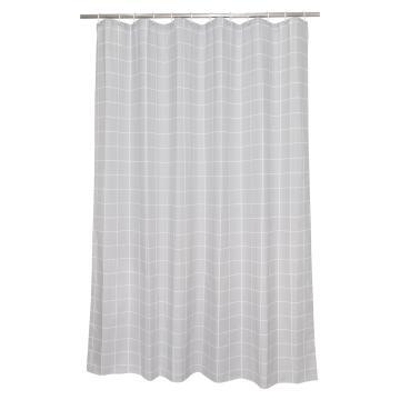Shower curtain Sensea WHITE BLACK LINES