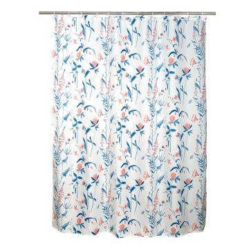 Shower curtain Sensea PINK FLOWER CHARM