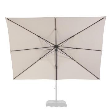 Umbrella Replacement Cover Aluminum Rectangular 280 cm X 390 cm Taupe NATERIAL
