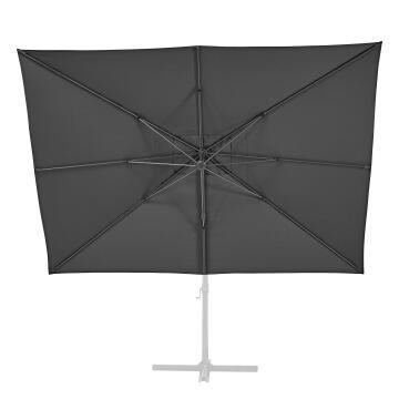 Umbrella Replacement Cover Aura Aluminium 290 cm x 390 Dark Grey