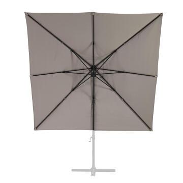 Umbrella Aura ALUMINIUM 290 cm X 290 cm Taupe