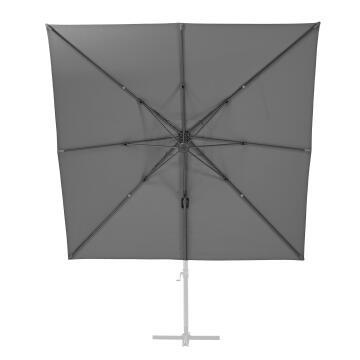 Umbrella Replacement Cover Aluminium Dark Grey 290 cm x 290 cm NATERIAL