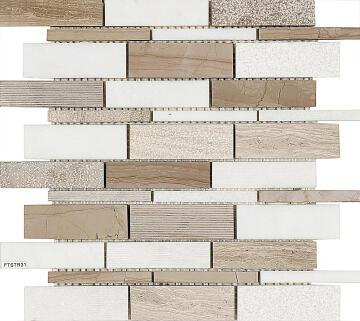 Mosaic Tile Grey Combo Interlocking 300x300mm