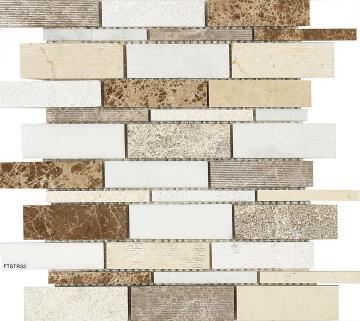 Mosaic Tile Brown Combo Interlocking 300x300mm