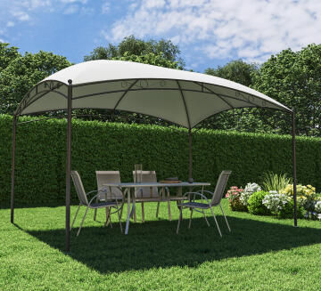 GAZEBO OCCO CURVED ROOF STEEL 300 CM X 400 CM