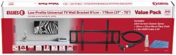 TV BRACKET FIXED 37-70 KIT HDMI+CLEANER