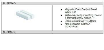 magnetic door contact sensor brown