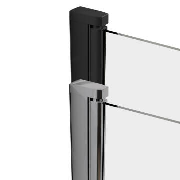 195CM HEIGHT,6MM FOR THE FIXED GLASS+8MM FOR THE MOBILE GLASS, 15MM EXTENSIBILITY,EASY INSTALLATION,REVERSIBLE,ZINC ALLOY HANDLE,OPENING SIZE 78CM