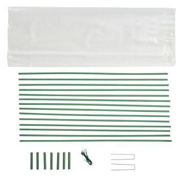 Greenhouse tunnel kit with film GEOLIA 1.2mx3.5m 100 micron