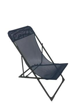 Chair relax Sunlounger biganos foldable steel textylen neptune blue