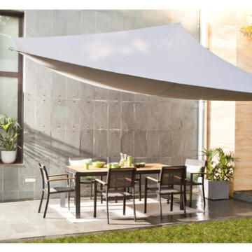 Shade Sail 300 cm X 400 cm Dark Grey NATERIAL