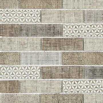 Mosaic Tile Coco Cream Carpet Pattern 350x260mm