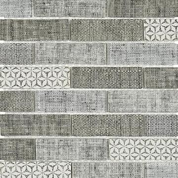 Mosaic Misty Grey Carpet Pattern 350x260mm