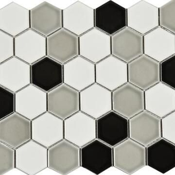 Mosaic Hexagonal Checkered 32X28