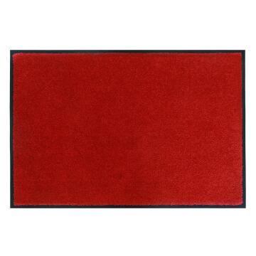 DOORMAT POLYAMIDE CONST RED 40X60CM INSP