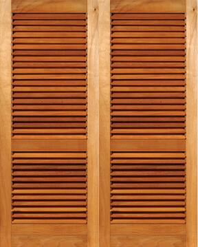 Louvre Door Pair Hardwood-w1612xh2032mm