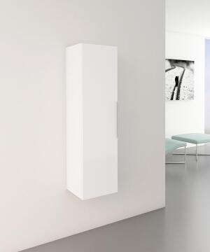 Wall hung cabinet door column SENSEA Essential glossy white 30x116x30cm
