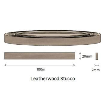 Edging PVC Roll Leatherwood Stucco 2x20xmm-100m