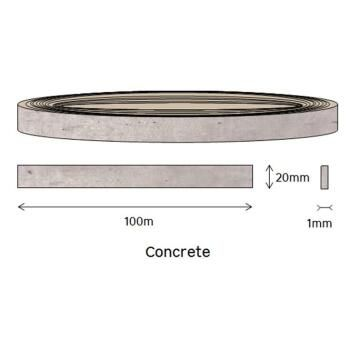 Edging PVC Roll Concrete-1mm thick-w20mmxl100m