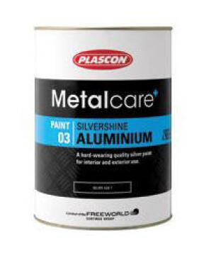 Metalcare Silvershine Aluminium Silver PLASCON 1 litre