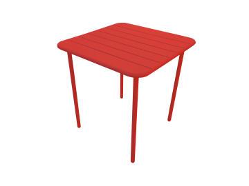 Dining table café cherry red 70cm x 70cm steel