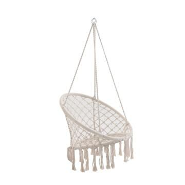 HAMMOCK CHAIR POLY-COTTON ROPE NATURAL