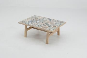 COFFEE TABLE SOHO HERITAGE 103X70X40CM ACACIA-CERAMIC