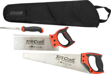 Set of 3 hand/back/job saws TORKCRAFT