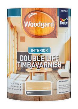 Wood varnish clear DULUX WOODGARD INTERIOR DOUBLE LIFE TIMBAVARNISH Matt 5L