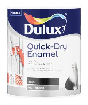 Metal paint DULUX Quick Dry Enamel Black 1L