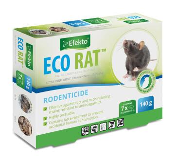 Eco Rat, Rodenticide, EFEKTO, 140g