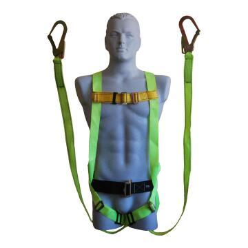 Full body harness double lanyard scaffold hook