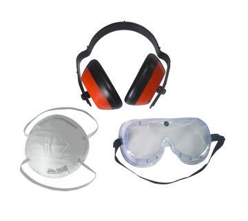 Ear Defender 25DB & Protection eyewear & Mask