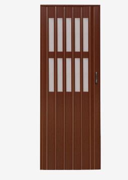 Folding Door PVC Walnut-w820xh2030mm