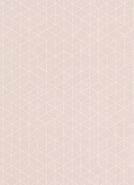 WALLPAPER N/WOVEN PINK GEO 10,5X0,53M