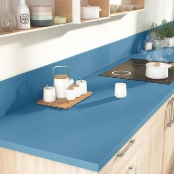Kitchen worktop laminate Blue Fjord 3000X650X38 water repellent treatment