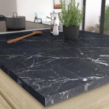 Kitchen worktop laminate Grey Marble Matte 3000X650X58cm water repellent treatment