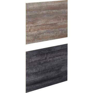Kitchen splash back laminate New Vintage Wood/Black L3000mm x H640mm x T8mm