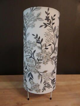 LAMPSHADE LAMP 18X38X18 LACE GREY