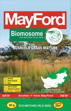 Lawn Seed, Biomosome Bushveld Mix, MAYFORD, 50g