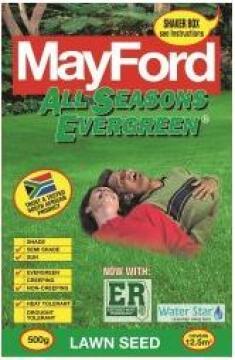 Lawn Seed, All Seasons Evergreen, MAYFORD, 500g