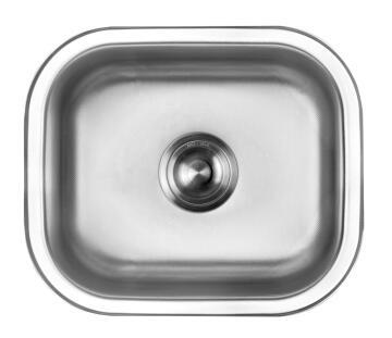 Kitchen sink 1 bowl stainless steel anti-scratch drop in CAM AFRICA 450 x 380mm