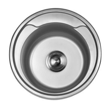 Kitchen sink 1 bowl stainless steel anti-scratch drop in CAM AFRICA 480mm