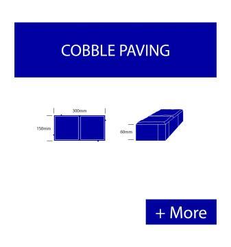Paver Cobble Large - Grey Premium